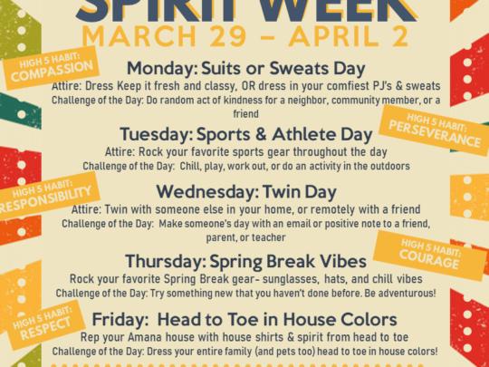Weekly Updates 3/31/21